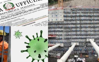Emergenza Coronavirus: Il cantiere chiude il monitoraggio no